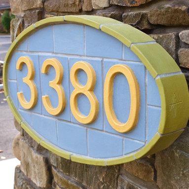 Contemporary Address Tile Plaque -