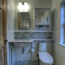 Eclectic Bathroom by Moss Building and Design