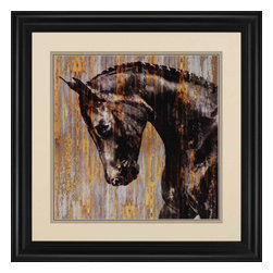 Paragon - Horse I - Framed Art - Each product is custom made upon order so there might be small variations from the picture displayed. No two pieces are exactly alike.