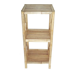 "Bamboo54 - Bamboo 3-Tier Bath Shelf - Classical design bamboo 3 tier bath shelf is not only limited to use in the bathroom, it can be used practically anywhere in your home. Beautiful and eco friendly, some assembly is required but it is pretty simple. Measures 23.5"" W x 14"" D x 38"" H."
