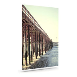 """Kess InHouse - Bree Madden """"Ventura Pier"""" Wrapped Art Canvas (24"""" x 20"""") - Bring your outdoor patio to life with this artistic outdoor canvas wrap featuring gorgeous artwork by KESS InHouse. These canvases are not only easy to hang and remove but also are the perfect addition to your patio collection. These canvases are stretched around a wooden frame and are built to withstand the elements and still look artistically fabulous. Decorating your patio and walls with these prints will add the splash of art and color that is needed to bring your patio collection together! With so many size options and artwork to choose from, there is no way to go wrong with these KESS Canvas Wraps!"""
