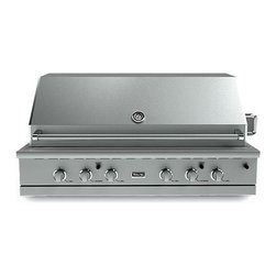 """Viking VGBQ55404RE 500 Series 54"""" Built-in Gas Grill - Viking VGBQ55404RE 500 Series 54"""" Built-in Gas Grill with 1,120 sq. in. Cooking Area, 4 Stainless Steel 29,000 BTU Burners, 15,000 BTU Infrared Rotisserie, Smoker Box and Blue LED Controls."""