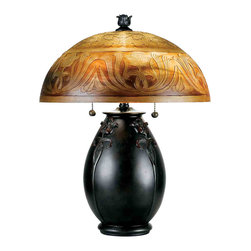 Quoizel Lighting - Quoizel QJ6781TR Glenhaven Teco Rossa Table Lamp - 2, 60W A19 Medium