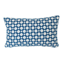The Pillow Studio - Lumbar Pillow Cover in Indigo Blue Betwixt on Both Sides - This Indigo Blue Betwixt lumbar pillow cover has such great texture and subtle design; I think I might have one of these on every room of my house!