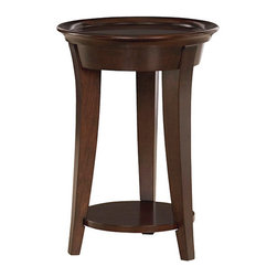 Hammary - Hammary Umbria Round End Table in Rich Warm Cherry - Round End Table in Rich Warm Cherry Belongs to Umbria Collection by Hammary