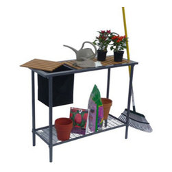 Jewett-Cameron Companies - Garden Utility/Potting Table - A great addition to your greenhouse and gardening activities. Easy, one-tool assembly gets you up and running in no time.