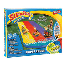 Wham-O Slip 'N Slide Triple Racer with Boogies - The Slip 'N Slide now comes in triple for a cool water race.