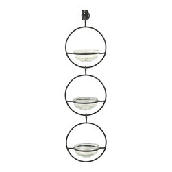 Three Sphere Wall Hangers - I love the originality of this piece. It would be a great piece of wall art, lit up with tea lights for accent lighting.