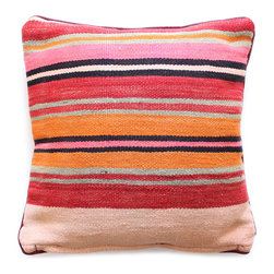 Baba Souk - Striped Moroccan Pillow - While wandering through Marrakesh and visiting the coolest riads, (which are traditional guesthouses usually decorated with great folkloric finds, the hippest places to stay when traveling to Marrakesh) I noticed a new trend, these wonderful pillows with colorful candy stripes! Since I am a huge fan of stripes I loved them instantly.