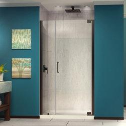 DreamLine - DreamLine SHDR-4159720-06 Elegance Shower Door - DreamLine Elegance 59-3/4 to 61-3/4 in. W x 72 in. H Pivot Shower Door, Oil Rubbed Bronze Finish Hardware