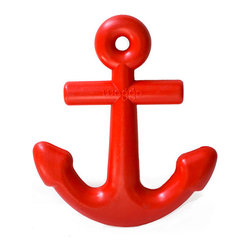 Waggo - Anchors Aweigh Rubber Dog Toy, Classic Cherry - Cruise in to playful waters with our Anchors Aweigh Toy! Perfect for the salty paw in your family, our durable rubber Anchor dog toy will stand up to hours of fun! Choose from nautical navy or classic cherry for a toy that will keep your water dog busy on sea or on land!