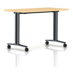 Herman Miller - Flip Top Everywhere Table - You will absolutely flip over this ingenious table. The top rotates to a vertical position when not in use for easy storage. Use it as a personal desk or impromptu conference table. You can even group a few together to create a group workstation.