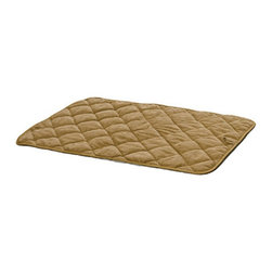 "Mid-West Homes for Pets - Deluxe Tan Suede Dog Mat Multicolor - 40418-VST-1P - Shop for Mats Covers and Foam from Hayneedle.com! Mat Measurements 18""L x 13""W 21""L x 13.5""W 23""L x 17""W 30""L x 19""W 35""L x 23""W 43""L x 28""W 49""L x 30""W About Mid-West Metal ProductsIn 1921 Mid-West Metal Products made only one item a Kruse Switch Box Support and over the years began manufacturing millions of wire and sheet metal component parts. By 1960 they were producing training crates for pets. Today Midwest Homes for Pets a division of Mid-West Metal Products produces and markets a variety of pet containment products. These products include dog crates training puppy crates dog kennels cat playpens bird cages vehicle barriers soft-sided carriers grooming tables and much more. They also manufacture a full line of pet accessories like beds and feeding dishes."