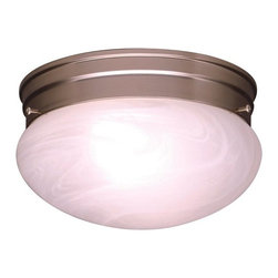 BUILDER - BUILDER Ceiling Space Transitional Flush Mount Ceiling Light (Pack of 12) X-IN60 - A clean Brushed Nickel finish draws attention to the undulating coloring of the alabaster swirl glass shade on this Kichler Lighting flush mount ceiling light from the Ceiling Space Collection.