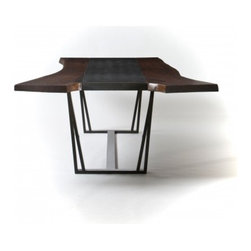 rwDINE - This reclaimed walnut and granite table adds character to your dining experience.