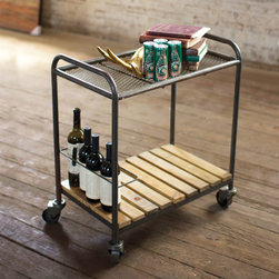 On The Go Serving Cart - This is a cocktail bar on wheels. Load it up with drinks down below and glassware up top. Add a plate of cheese for extra impact.