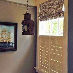 Shutters with Roman Shades - Teri Cardinelli