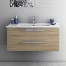 ACF - 33 Inch Vanity Cabinet With Fitted Sink - Set Includes:. Vanity Cabinet (2 Drawers). High-end fitted ceramic sink. Vanity Set Features . Vanity cabinet made of engineered wood. Cabinet features waterproof panels. Vanity cabinet in grey oak, glossy white, style oak finishes. Cabinet features 2 soft-closing drawers. Faucet not included. Perfect for modern bathrooms. Made and designed in Italy. Includes manufacturer 5 year warranty.