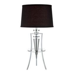 Lite Source - Lite Source LS-22097C/BLK Triocof Table Lamp - Lite Source LS-22097C/BLK Triocof Table Lamp