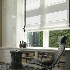 Contemporary Roman Blinds by Fenstermann LLC