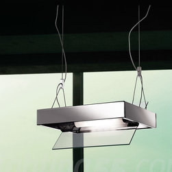 Itre - Ala Suspension Light - The Ala is classic and modern in its form with either a beautiful white or polished chrome finish. The diffuser bounces the light in a way that is not blinding but warming in its application.