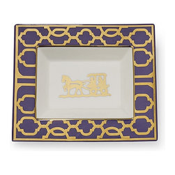Horse and Buggy Rectangular Plate - I am all about using furniture and home decor in ways different than intended, and this plate is the perfect example. Sure, a set of these would be lovely on a dinner table, but I see this as a tray for my jewelry or for displaying candles.