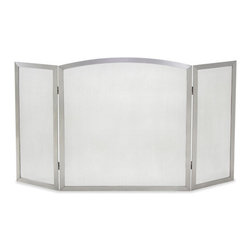 Pilgrim - Angersteins Outdoor Fireplace Screen - This stainless steel three-panel fireplace screen is just what you need for your outdoor fireplace. The style is so sleek and simple that you could use it indoors as well. This stainless steel screen comes with a Limited Lifetime warranty.