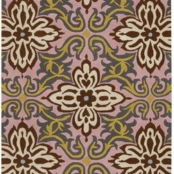 Amy Butler - Temple Garland Wool Rug by Amy Butler - Have we traveled back to ancient Tibet, or is it just the rug? Inspired by rich carvings found on Far Eastern temples, the Amy Butler Temple Garland Wool Rug is a celebration of life in a vivid, vibrant pattern. Choose from two cheerful colors (Blue or Pink) and instantly add a spark of energy to a living room. Designed by Amy Butler. Chandra area rugs have rapidly become known for tradition, heritage and quality of the handmade Indian rug. Designers Thomas Paul, Amy Butler, and Mary Agan have created a unique collection of area rugs that has become one of the most eclectic, quality lines in the industry.