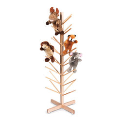 "Whitneybrothers - Whitney Brothers Kids Fun Play Puppet Tree Organizer With 32 Branches - Sturdy organizer with 32 branches is the perfect place to keep all those puppets organized and visible. Ships RTA, easy to assemble. 20"" W x48"" H x20"" D. 10 lbs. GreenGuard Certified. Made in USA. Lifetime Warranty."