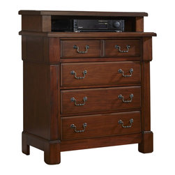 Home Styles - Home Styles Aspen Media Chest in Rustic Cherry - Home Styles - Chests - 5520041 - Create ambiance with a perfect balance of warmth and style with The Aspen Collection Media Chest by Home Styles.The Media Chest encapsulates distinguished Americana style.