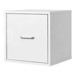Foremost - Modular File Cube White - Simple, sophisticated, and functional, this file cube helps keep clutter out of sight. The white finish complements any decor, and the sleek design is modern and fresh. Use individually or combine for customized storage. Unlimited combination options so you can create exactly the system you need.