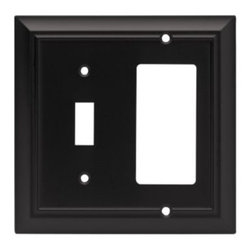 Liberty Hardware - Liberty Hardware 64214 Architectural WP Collection 4.96 Inch Switch Plate - A simple change can make a huge impact on the look and feel of any room. Change out your old wall plates and give any room a brand new feel. Experience the look of a quality Liberty Hardware wall plate. Width - 4.96 Inch, Height - 4.9 Inch, Projection - 0.2 Inch, Finish - Flat Black, Weight - 0.35 Lbs.