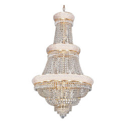 "The Gallery - French Empire Crystal Chandelier Lighting H50"" X W30"" - 100% CRYSTAL CHANDELIER, this chandelier is characteristic of the grand chandeliers which decorated the finest Chateaux and Palaces across Europe and reflects a time of class and elegance which is sure to lend a special atmosphere in every home. This item comes with 18 inches of chain."