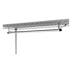 "InterMetro Industries - Metro Garment Hanger Tube - 36x18 - Hanger tubes attach easily under shelves for hanging garments.  Each tube comes with two brackets. Fits shelf that is 36"" Long and 18"" Deep"