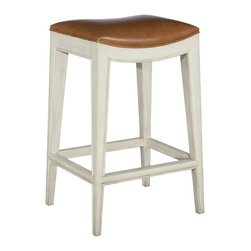"""EuroLux Home - New Woodbridge Stool 24"""" Brown/Tan Leather - Product Details"""