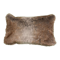Brown Faux Fur Pillow - 12x20 - It's almost perfect: you're settled into your couch with a bowl of kettle corn and a steaming mug of hot chocolate ready on the coffee table. After an epic internal battle between charming rom com and a more challenging indie film, the movie's been chosen. But what are you going to curl up against? Get this incredibly cosy faux fur pillow now, and be prepared.
