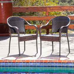 Christopher Knight Home - Christopher Knight Home Fully Assembled Sunset Outdoor Tight-weave Wicker Chair - Enjoy some sun with these sturdy outdoor wicker chairs. They'll bring leisure and elegance to your patio or pool area and can be easily matched with most décor because of their neutral color. This is a set of two,so you can relax with a friend.