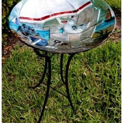 Shoreline Glass Bird Bath - Please note this product does not ship to Pennsylvania.