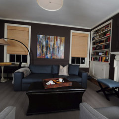 modern family room by Perceptions Interiors by J. Allen