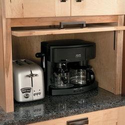 Schuler Cabinets | Appliance Garage with Easy Lift Up Door -
