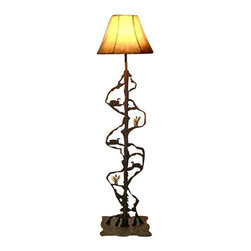 Wildlife Decor Llc Scenery Style Floor Lamp Rust Loon