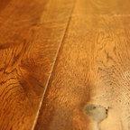 Oak Gunstock Brazil 3/4 x 5 Hand Scraped Solid Hardwood Floors -