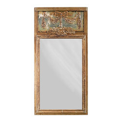 Established 98 - Antiqued Wall Mirror - Effortlessly enhance your d̩cor with this elegant wall mirror that features ornate detailing and vintage details carefully worked on wood and metal. �� 59.5'' W x 59.5'' H Wood / metal / glass Imported
