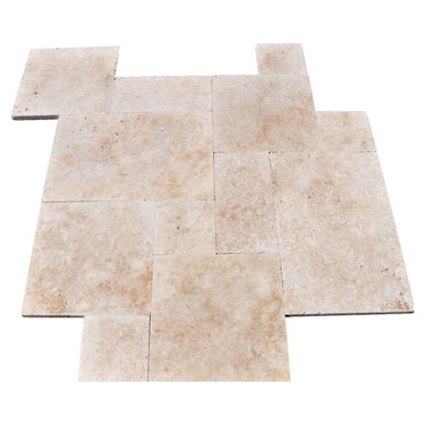 Tilesbay.com - Sample of 16 sft Honed Unfilled & Chipped Tuscany Ivory Travertine Tile - Tuscany Ivory Honed, Unfilled And Chipped French Pattern (16 sft) Travertine from Turkey is a low variation beige and cream product that adds warmth and depth to any interior design project including bathrooms, kitchens and foyers. This durable travertine is available in a wide variety of sizes in Tiles and mosaic patterns for the highest coordination possible in design projects. Please keep in mind that a typical size of sample is 4x4 or 6x6.