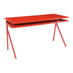 Blu Dot - Blu Dot Desk 51 - This simple modern desk doesn't leave much room for stashing things - perhaps it will inspire you to be more of a minimalist in your home office. Because of the simple lines and bright color options, this is also a fun option for a child's room or a craft room.