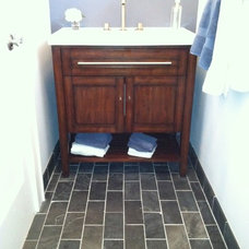 Traditional Bathroom by Stoneleigh Builders LLC.