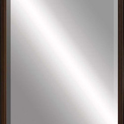 Paragon Decor - Beveled Mirror, Leveled Brown,24x36 - Mirror, Mirror, on the wall, who's the most beautiful mirror of them all? Reflect your impeccable taste with this contemporary-style mirror, which features a gorgeous leveled brown frame and high-quality interior beveled mirror. This piece measures 27 inches wide, 2 inches deep, and 39 inches high.