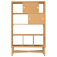 DwellStudio Mid-Century Natural Bookcase | DwellStudio