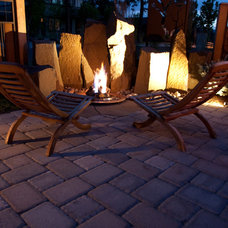 Contemporary Patio by Heart Springs Landscape Design, LLC