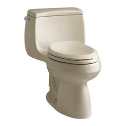 "Kohler - Kohler K-3615-33 Mexican Sand Gabrielle Gabrielle 1.28 GPF One-Piece - Gabrielle 1.28 GPF One-Piece Elongated Comfort Height Toilet with Seat, 12"" Rough-In, and Left-Hand Trip LeverWith straightforward design and exceptional flushing performance, the Gabrielle Comfort Height toilet makes a versatile, functional addition to your bathroom space. This one piece toilet offers an easy-to-clean design and elegant proportions.Comfort Height - With a seat height comparable to that of a standard chair, Comfort Height toilets make sitting down and standing up easier for people of all ages 12"" (30.5 cm) rough-in Class Five  - provides tremendous bulk waste flushing performance and best-in-class bowl cleanliness Canister flush valve provides smooth flushing actuation with consistent water usage, flush after flush 1.28 gpf high-efficiency toilets provide significant water savings of up to 16,500 gallons per year versus an old 3.5-gallon toilet without sacrificing performance Meets strict flushing performance guidelines established by the EPA s (Environmental Protection Agency) WaterSense program Qualifies as a HET (High-efficiency toilet) - consumer rebates are available in certain municipalities Polished chrome trip lever, includes French Curve with Q3 Advantage elongated seatLess supply"